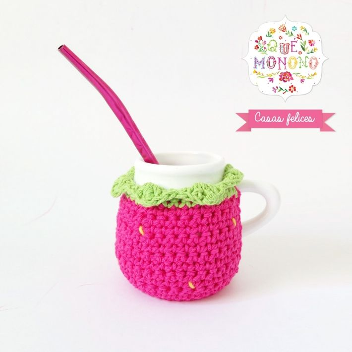 Mate Frutilla Cerámica | Crochet !!!! | Pinterest | Fruta, Cerámica ...