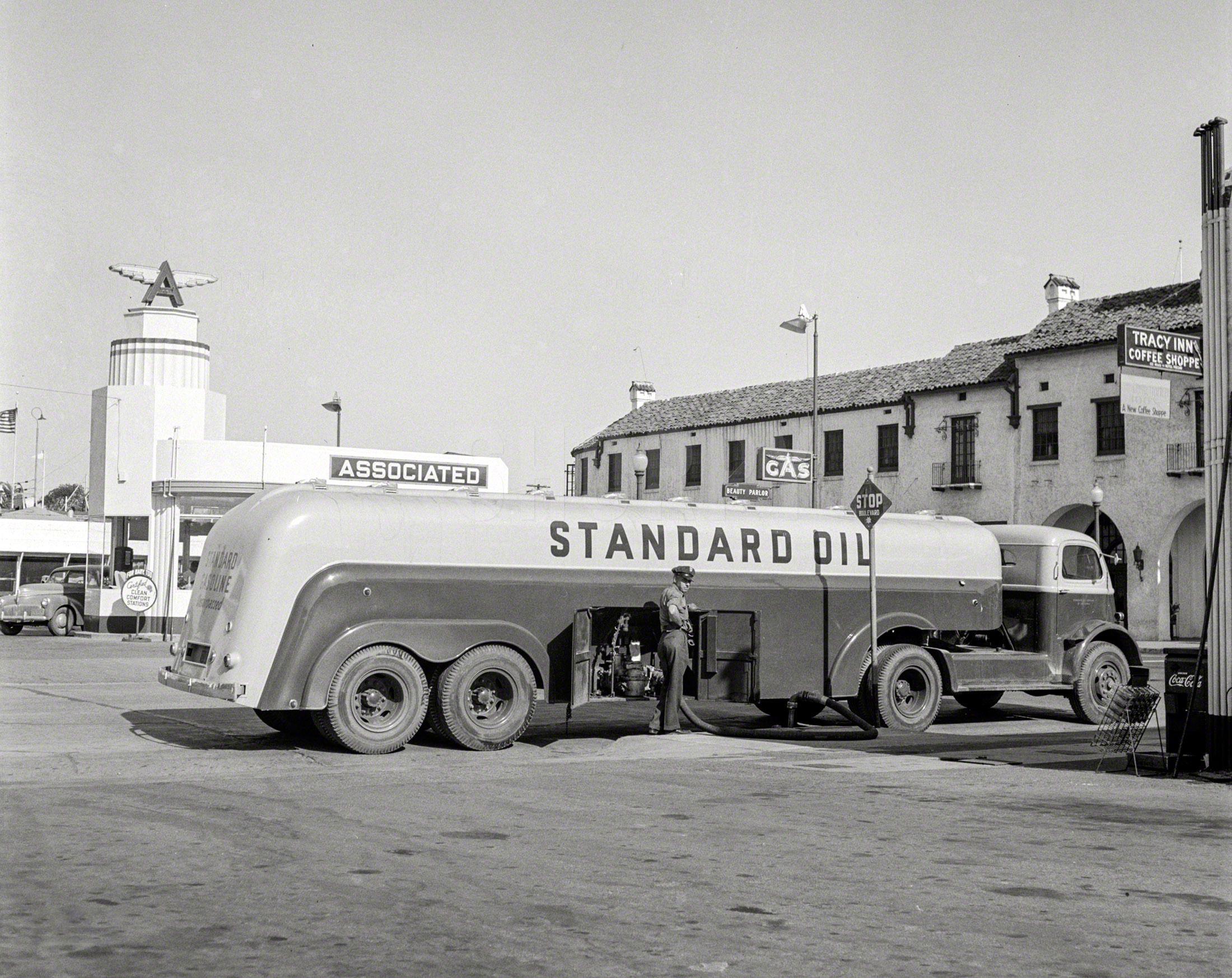 1938 International model D-400 Coke delivery trucks. Colorized photo ...