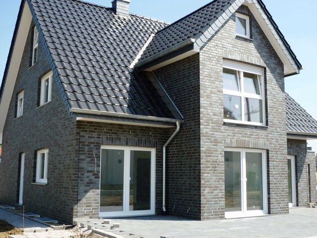Klinker grau Fassade haus, Häuser klinker, Haus design