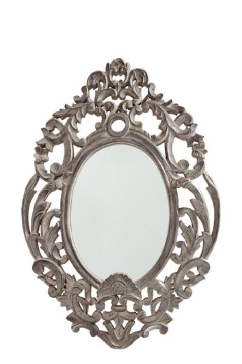 Vacker spegel i grå trä - Zara Home