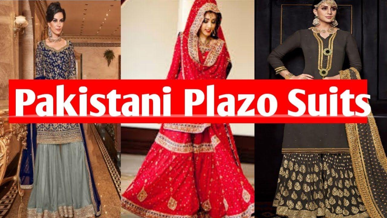pakistani palazzo suits images   pakistani designer suit ideas 2020   pakistani sharara design 2020