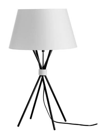 249 main table lamp black metal with white shade at bo concept