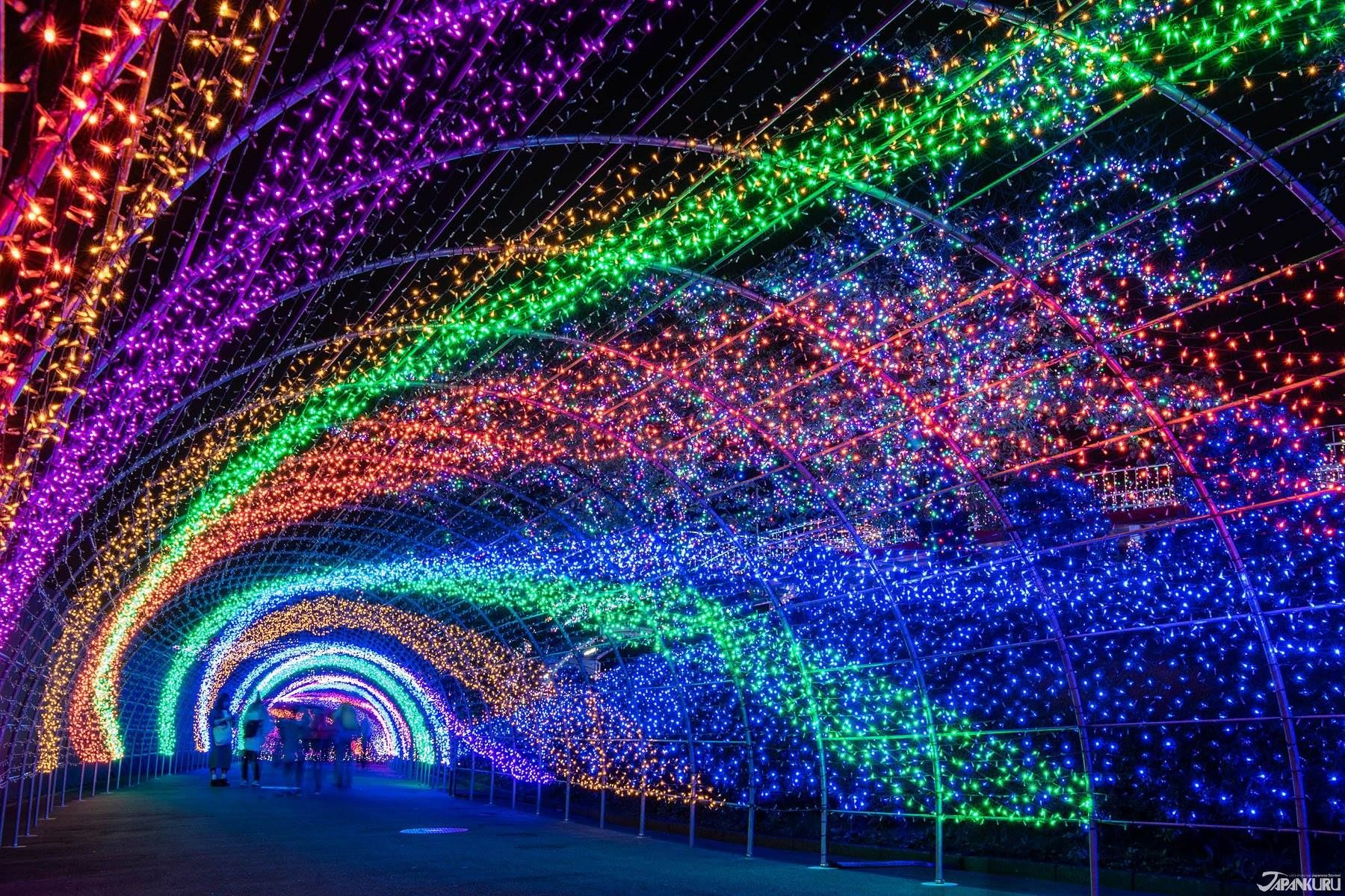 At The Yomiuriland S Jewellumination Everywhere In The Park Is Illuminated With 6 000 000 Colorful Light Making It L Winter In Japan Tokyo Winter Winter Light