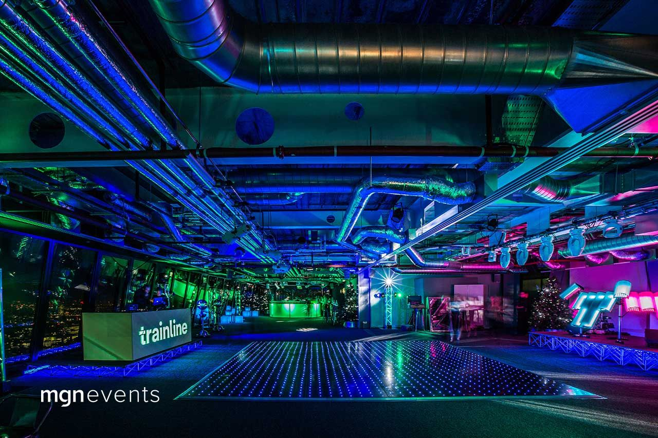 Futuristic Party In The Sky Futuristic Party Corporate Team Building Activities Team Building Activities