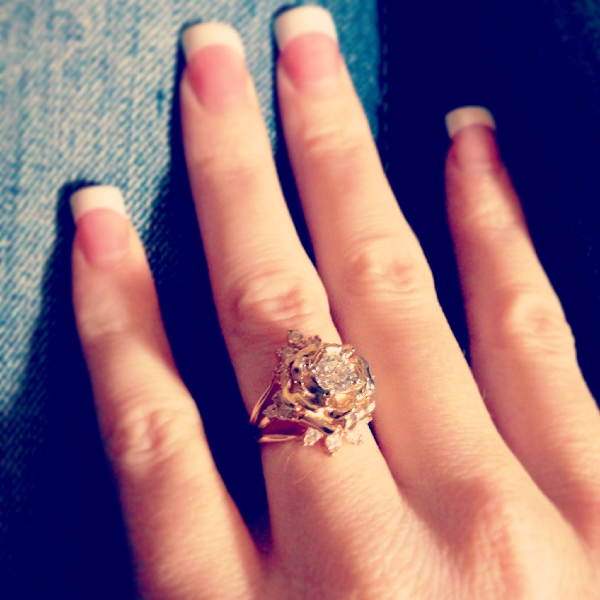 My New Vintage Rose Wedding Ring 3 My Style