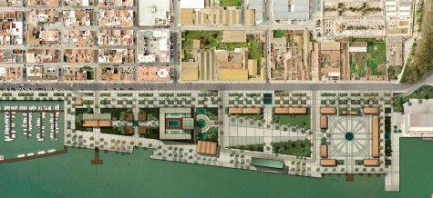 Reabilitaçao da Marginal de Vila Real de Santo Antonio, Algarve, Portugal - Ricardo Bofill Taller de Arquitectura