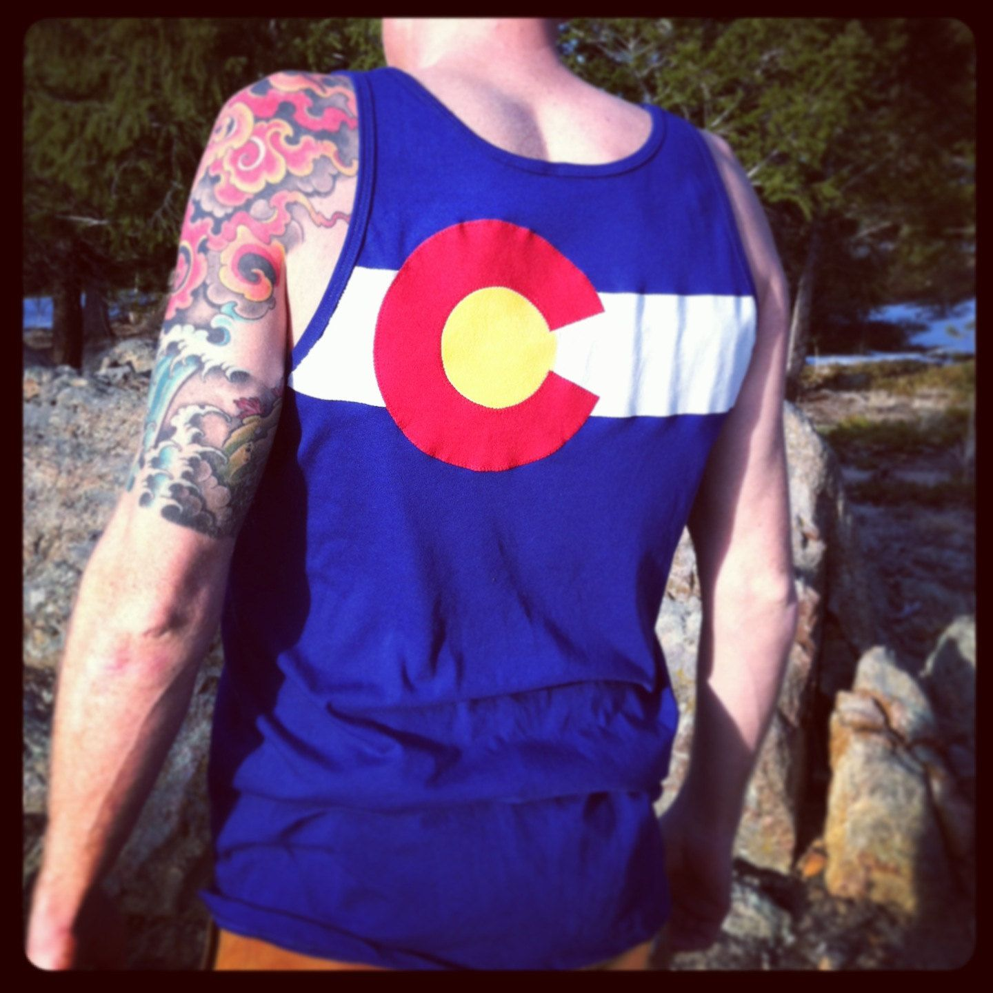 Arizona flag custom sewn tank top by frozenkiss fabric Wedding gift