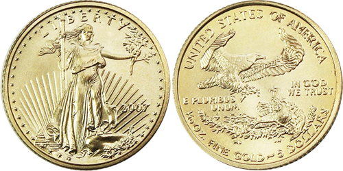 5 American Gold Eagle Value 1 10th Ounce Coin Bullion Bullioncoins Coins Coincollecting Preciousmeta In 2020 Gold Eagle Gold And Silver Coins Gold Eagle Coins