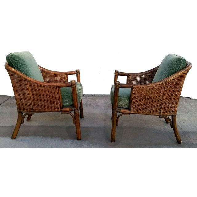 Image Of Vintage Double Cane U0026 Rattan McGuire Chairs   Pair