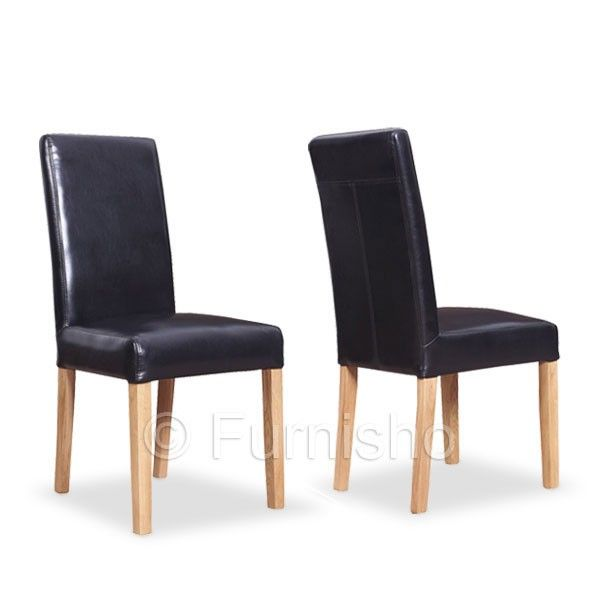 Amusing Milano Black Leather Dining Chair