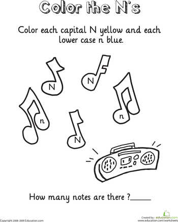 Color and Count the Alphabet Worksheets | Education.com | literte ...