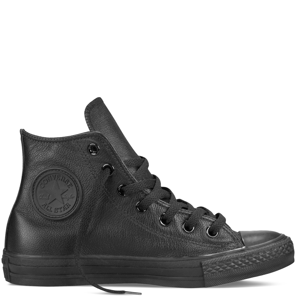Converse Chuck Taylor All Star Leather High Top Sneaker, Adult Unisex,  Size: Men's 8 / Women's Black Leather