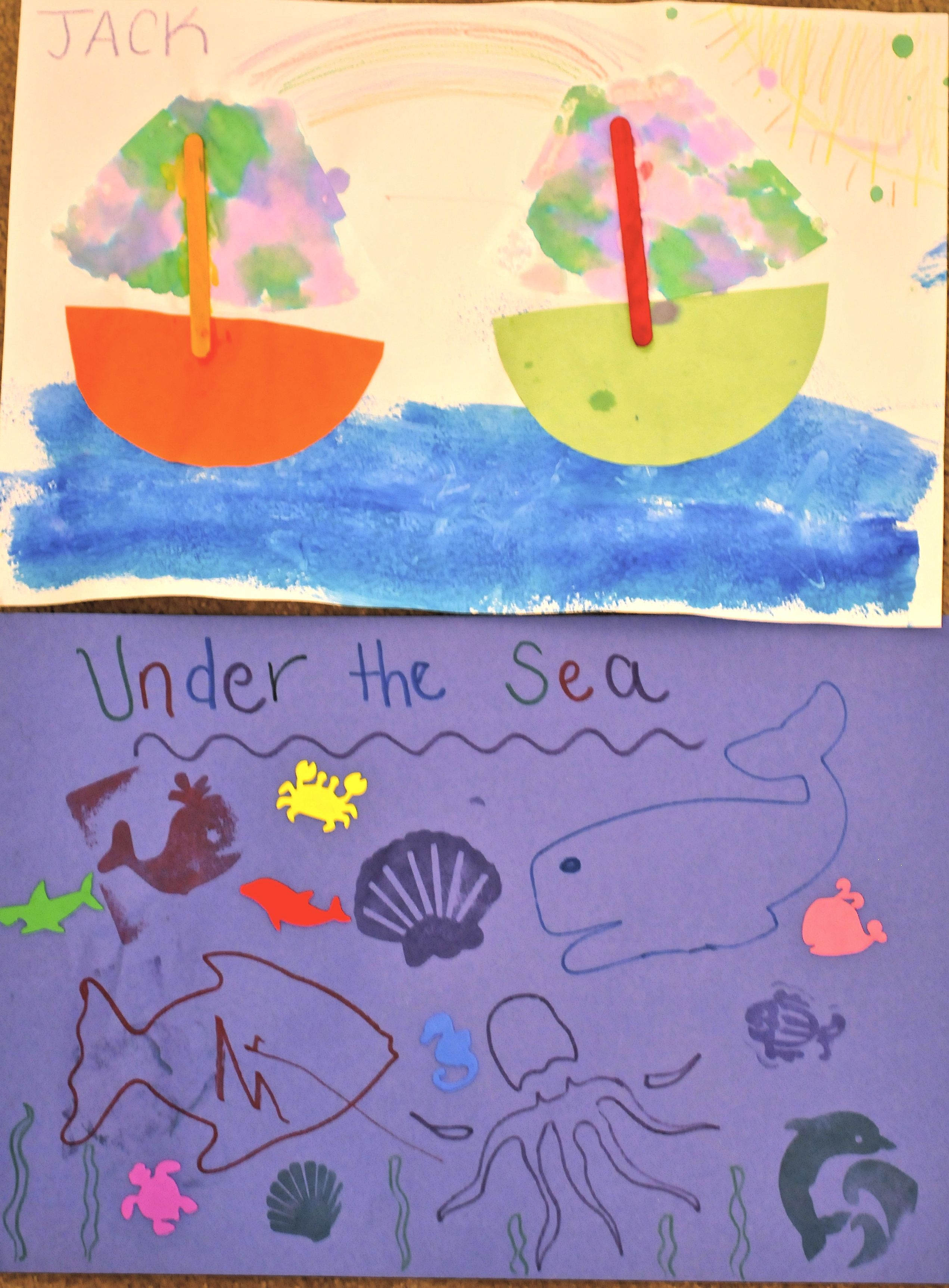 Above the sea & Under the sea art project   Classroom ...