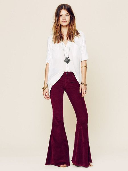 a8095168d1be3 burgundy corduroy bell bottoms by free people
