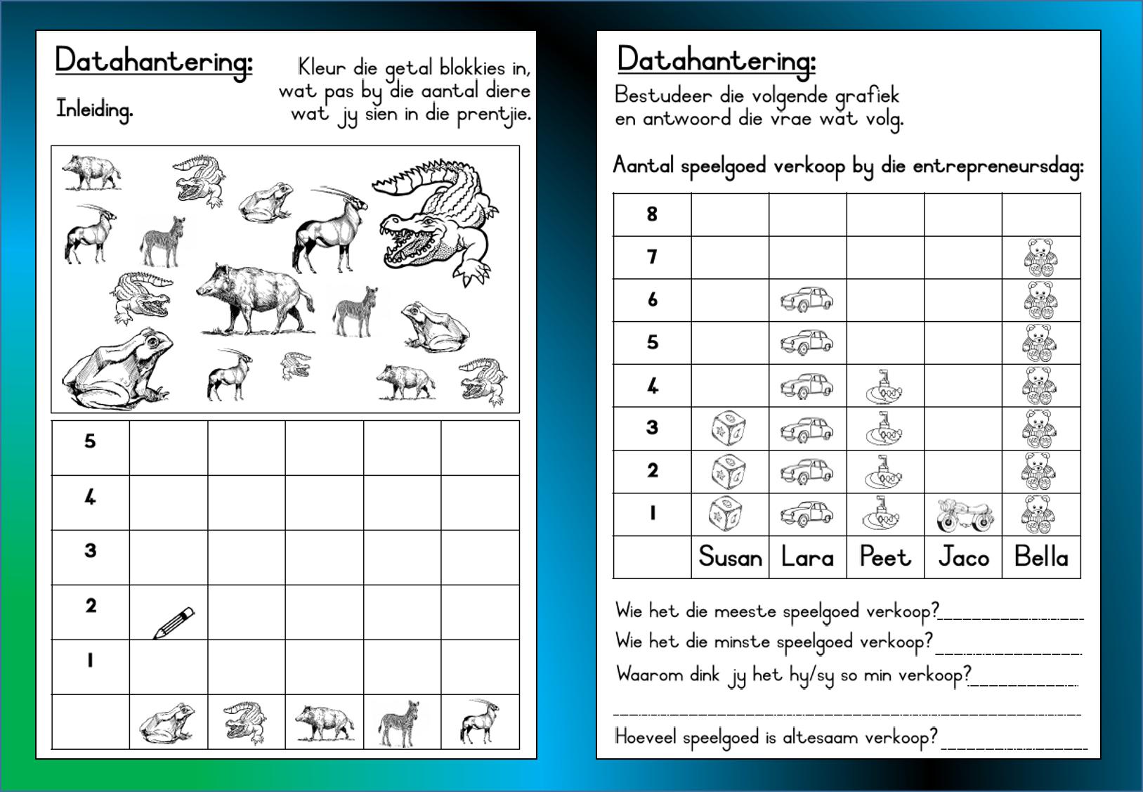 Graad 3 Wiskunde Datahantering Werkkaart Grondslagfase Aflaaibare Volledige Dokument Beskik Math Worksheets 1st Grade Worksheets Printable Math Worksheets [ 1127 x 1627 Pixel ]