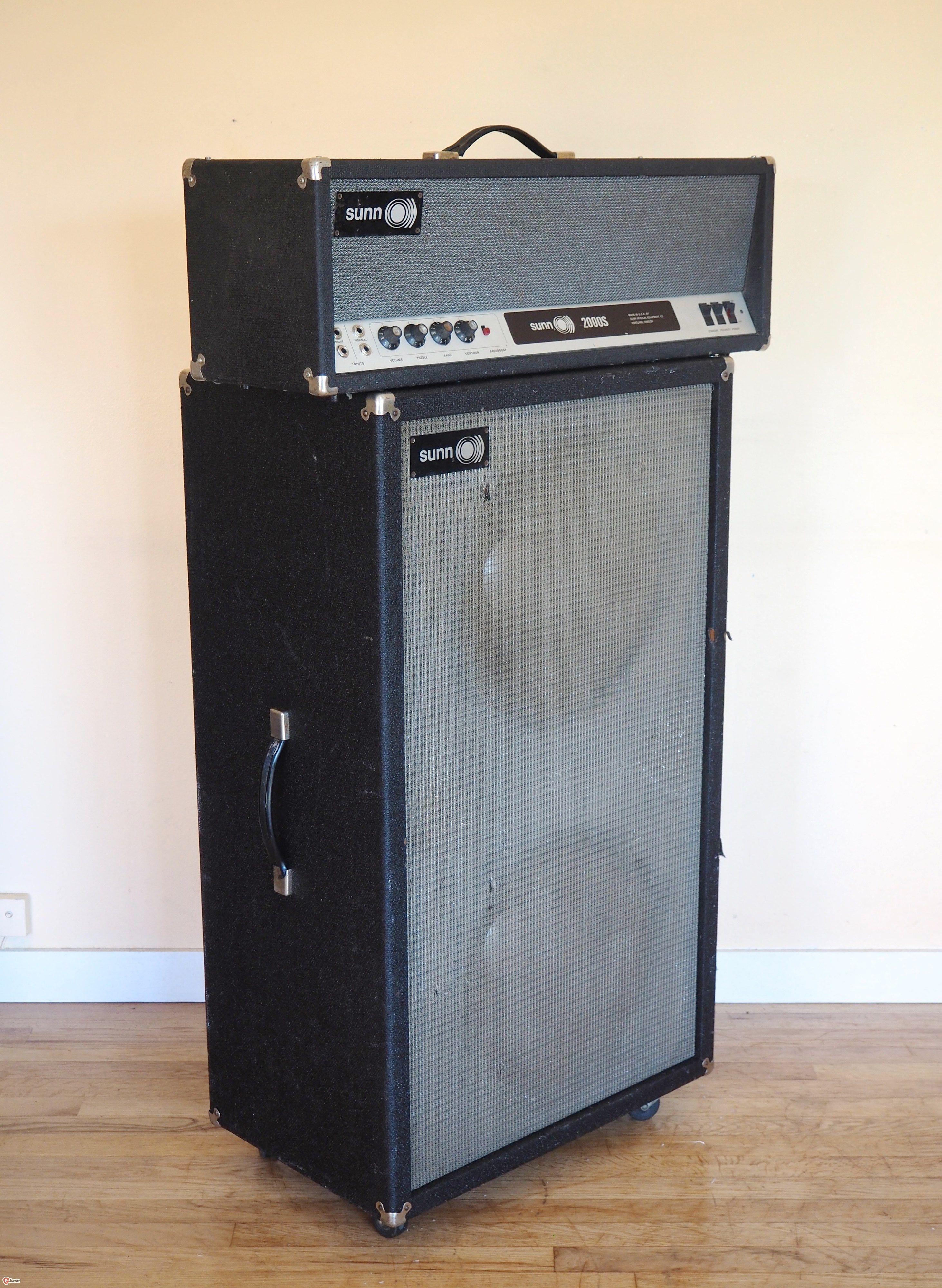 Up for sale, a 1969 Sunn 2000S vintage tube bass amplifier