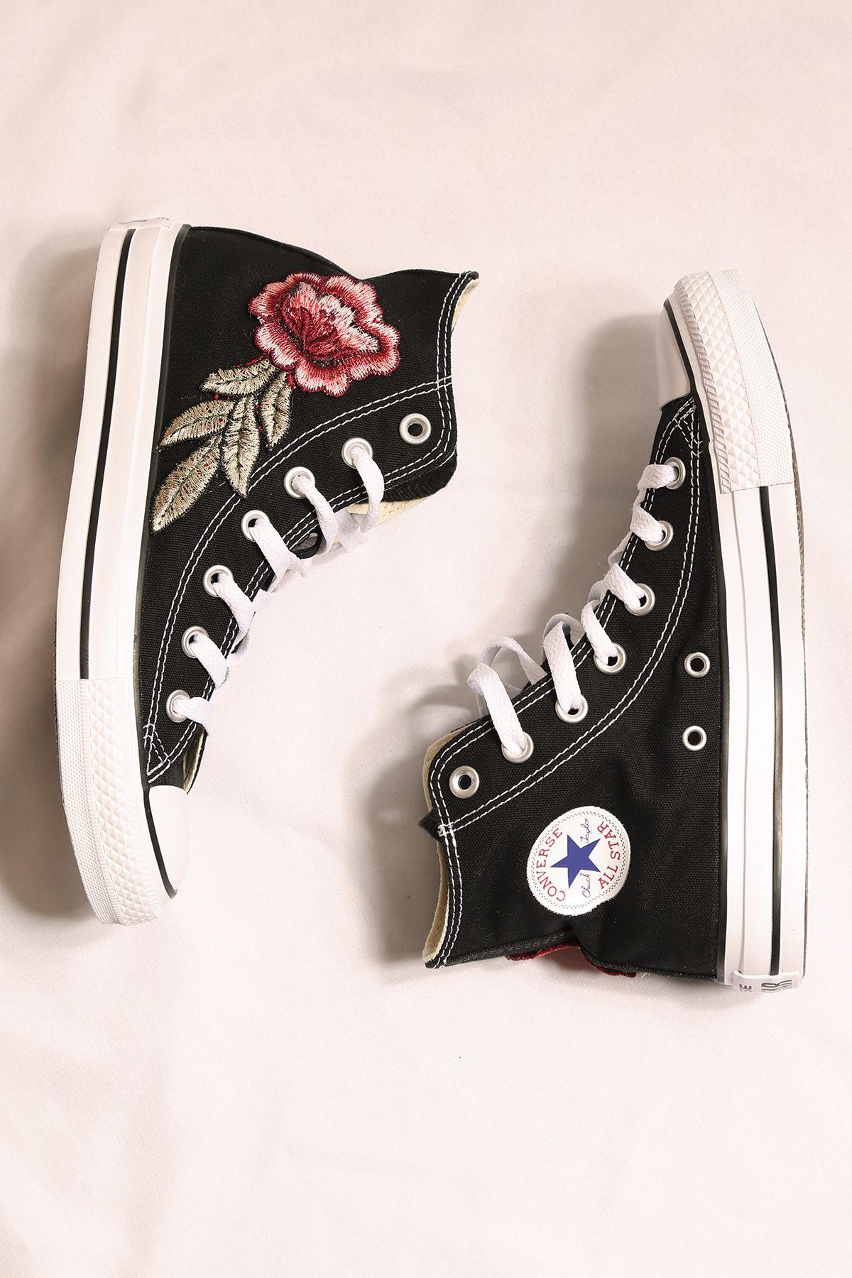 custom white converse rose all star high tops — iamkoko.la