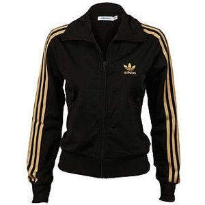 Adidas black with gold stripe jacket  f3d89ac230