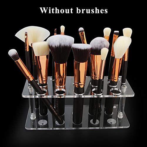ROMANTIC BEAR Acrylic Makeup Brush Holder Drying Rack Cosmetic
