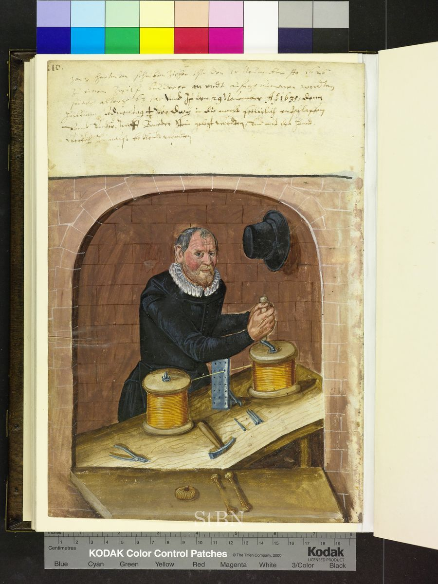 Tireur d\'or, 1625, Amb. 279.2° Folio 97 verso (Landauer I ...