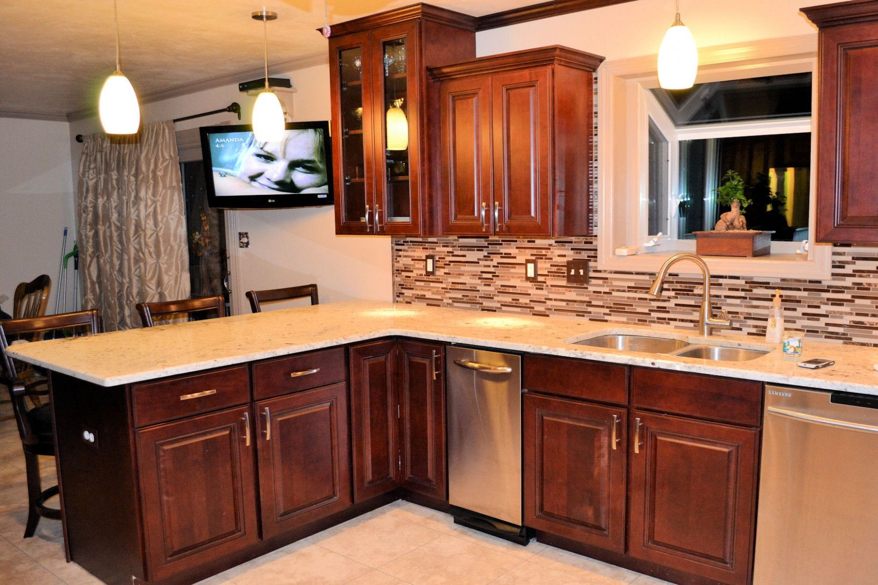 With seating for eight, the large dining table in the middle of this newly. 10 Custom Kitchen Cabinets Near Me   Kitchen remodel ...