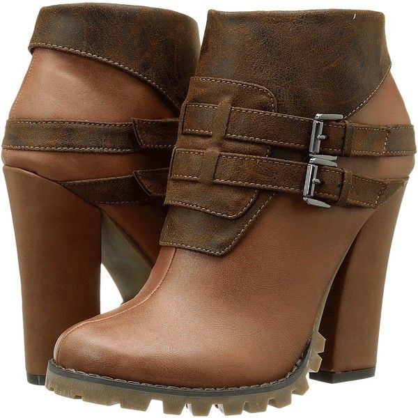 Michael Antonio Maida Women's Boots, Brown ($40) ❤ liked on Polyvore  featuring shoes
