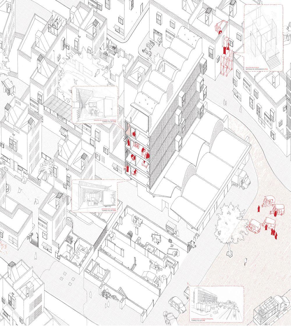 00 Axo Urban Design Concept Diagram Architecture Axonometric Drawing