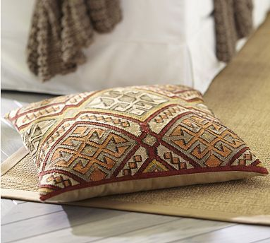 Kashan Kilim Floor Pillow Cover #potterybarn | Colorful living rooms ...