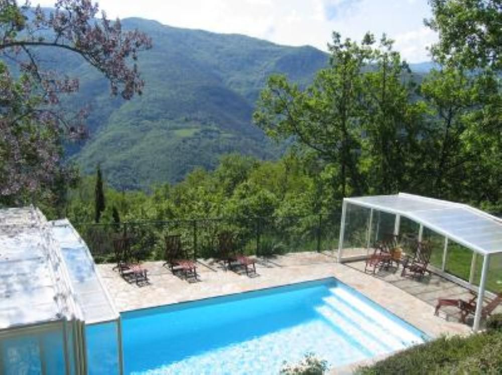 Villa avec piscine privative chauffée et couverte par abri haut - Gites De France Avec Piscine Interieure