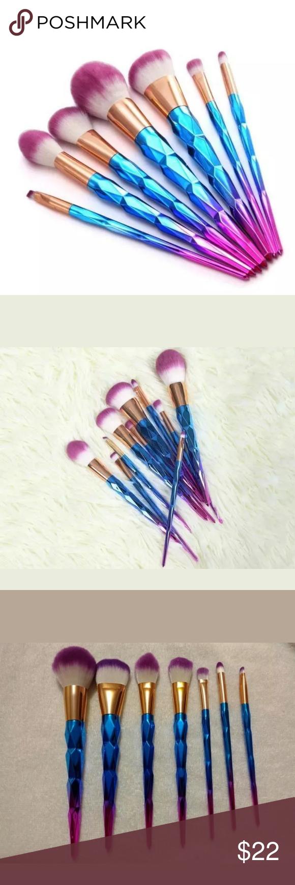 Lush Rainbow Unicorn Makeup Brush Set 7 Brushes Unicorn