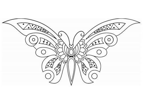coloriage papillon imprimer gratuit