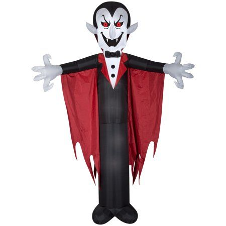 Halloween Airblown Inflatable Vampire with Cape 12FT Tall by Gemmy