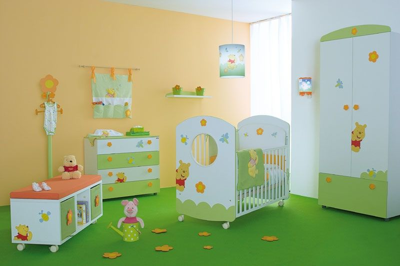 Baby Nursery Cute Neutral Baby Room Design With Winnie The Pooh Ideas Attractive Nursery Decors Attractive Nursery Decor Ideas With Variou