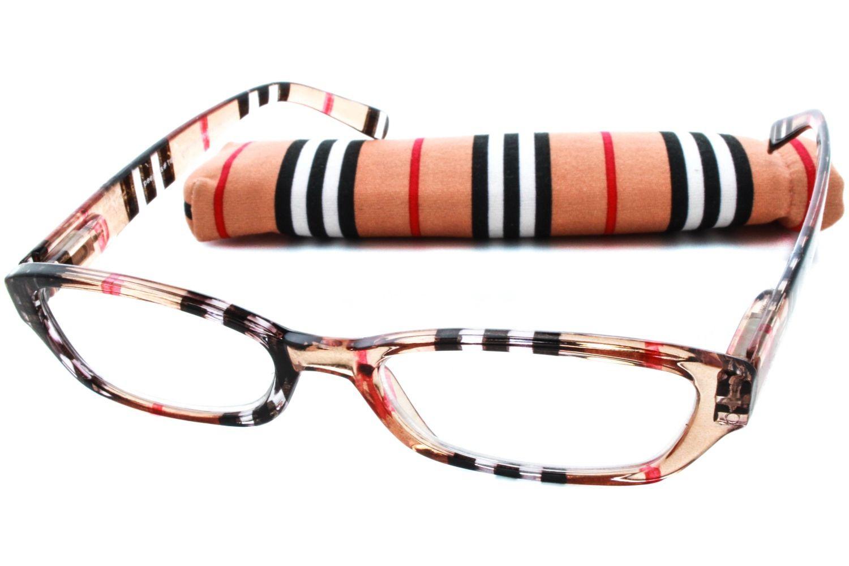 Peepers Chesterfield Stripe Designer Reading Glasses Reading Glasses ...