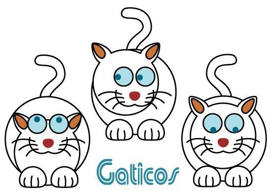 Simples gaticos - vector
