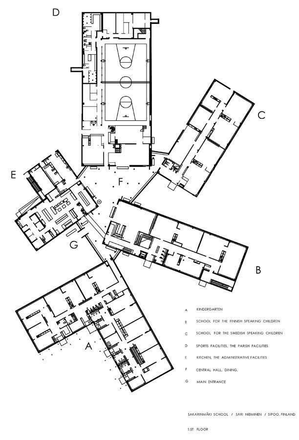 Architecture School Plan joensuu lyceum | architecture | pinterest | architecture, nursery