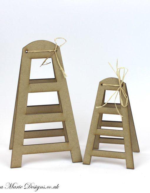 3d Mdf Step Ladder Stand Mini Cards General Ladder