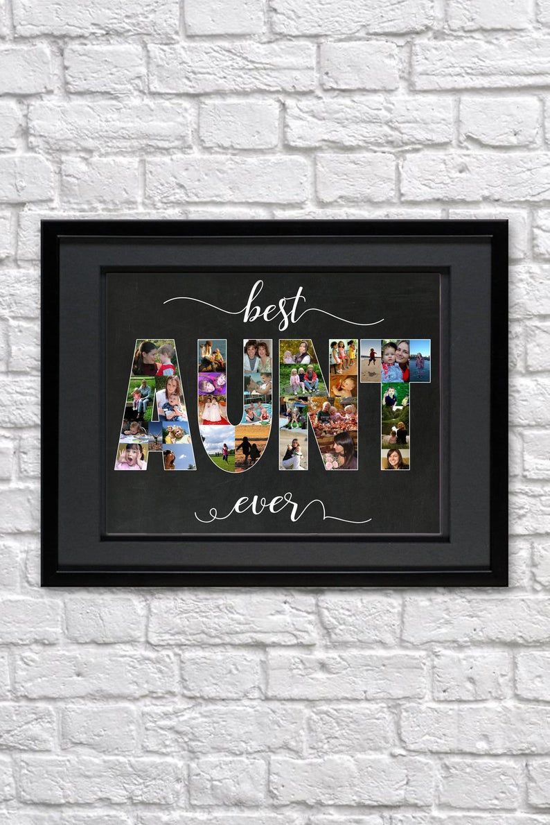 Best aunt ever mothers day gift for aunt photo collage