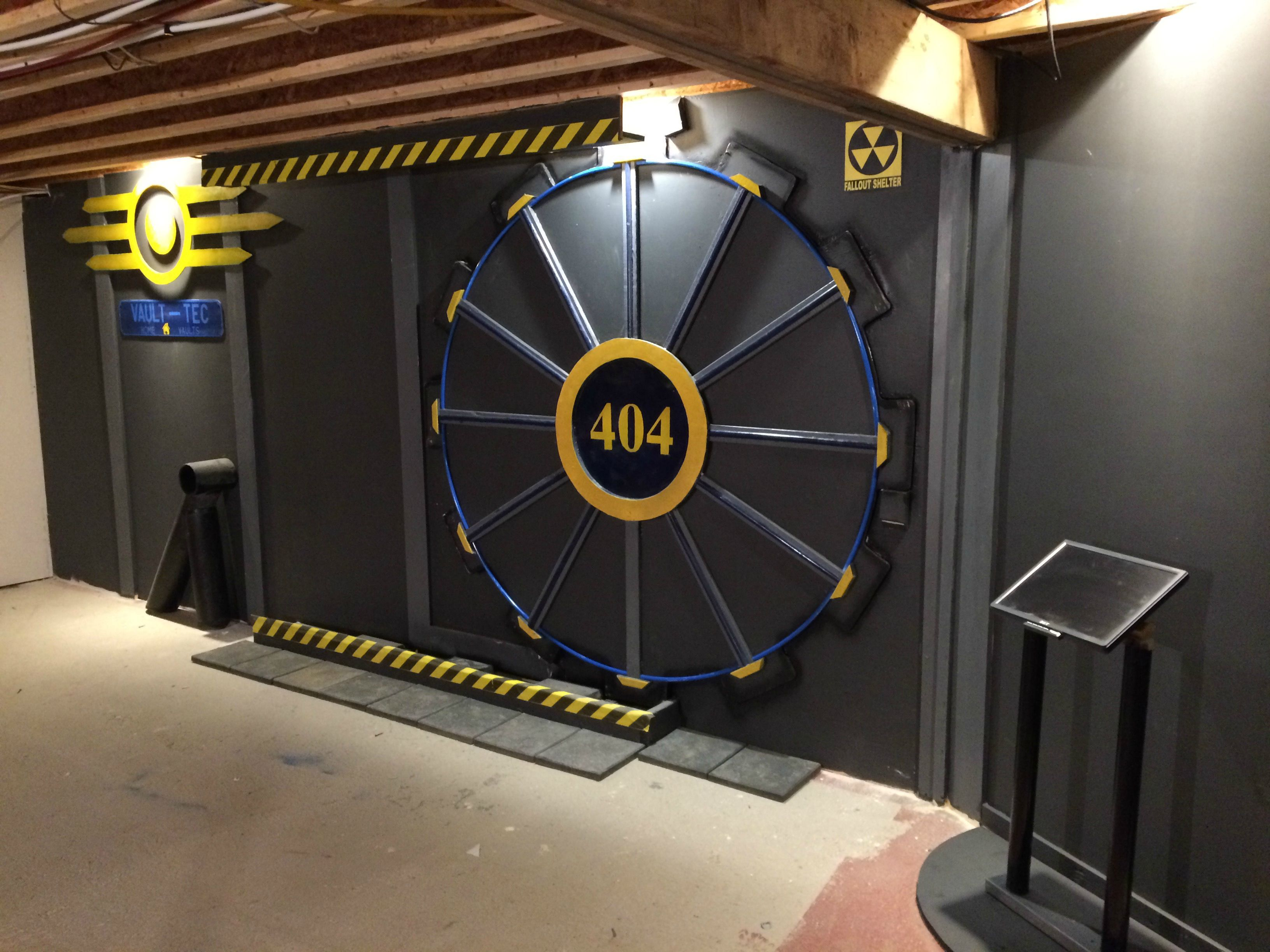 Fallout 4 themed gaming room with vault tec door my wishlist fallout 4 themed gaming room with vault tec door solutioingenieria Image collections