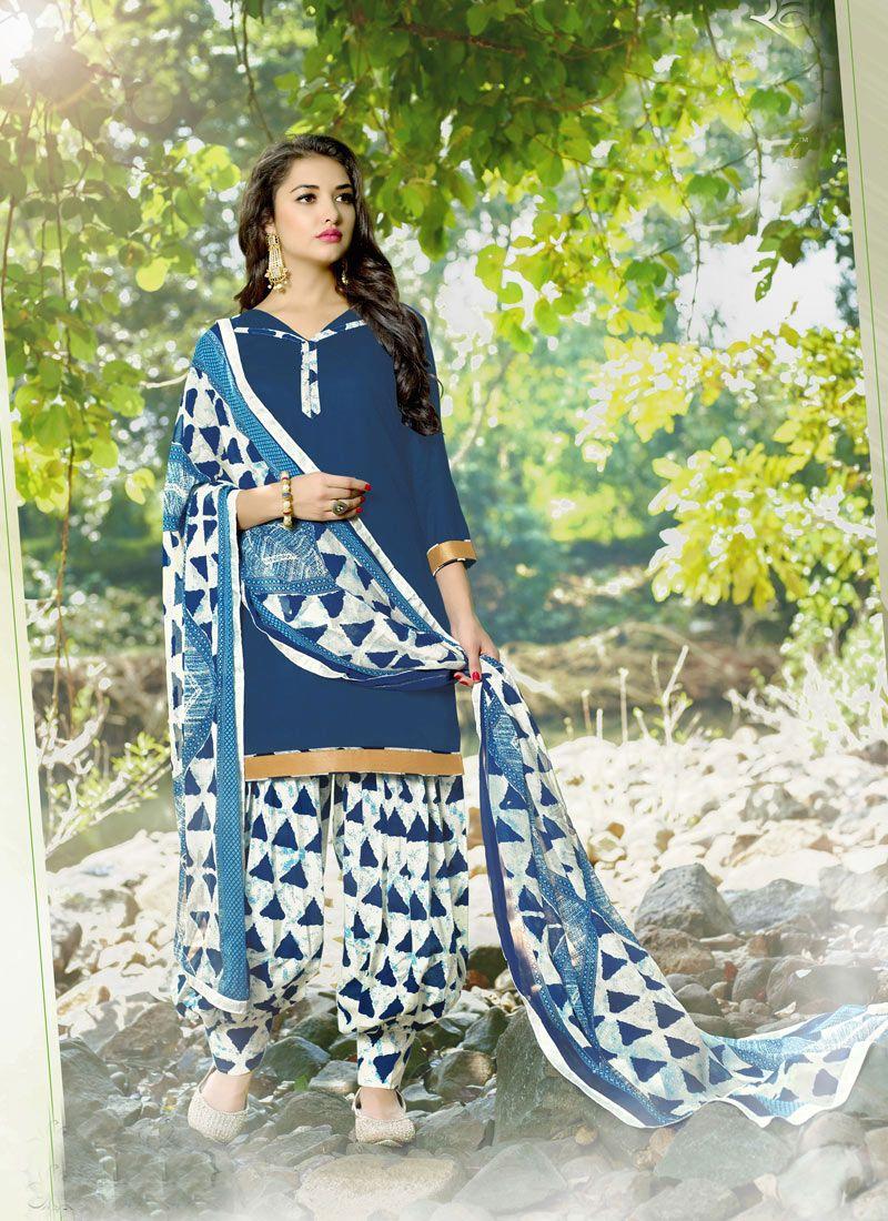 8c6680f18f #Navy #Blue #Cotton #Printed #Patiala #Salwar Suit #printed  #printedsalwarkameez #dress #sale #Salwar #Suit #nikvik #usa #designer  #australia #canada