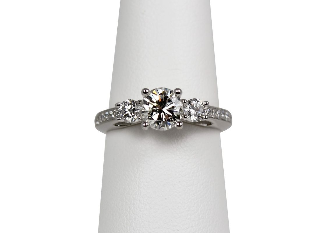 This was a re-mount of a solitaire engagement ring that was originally presented 25 years ago