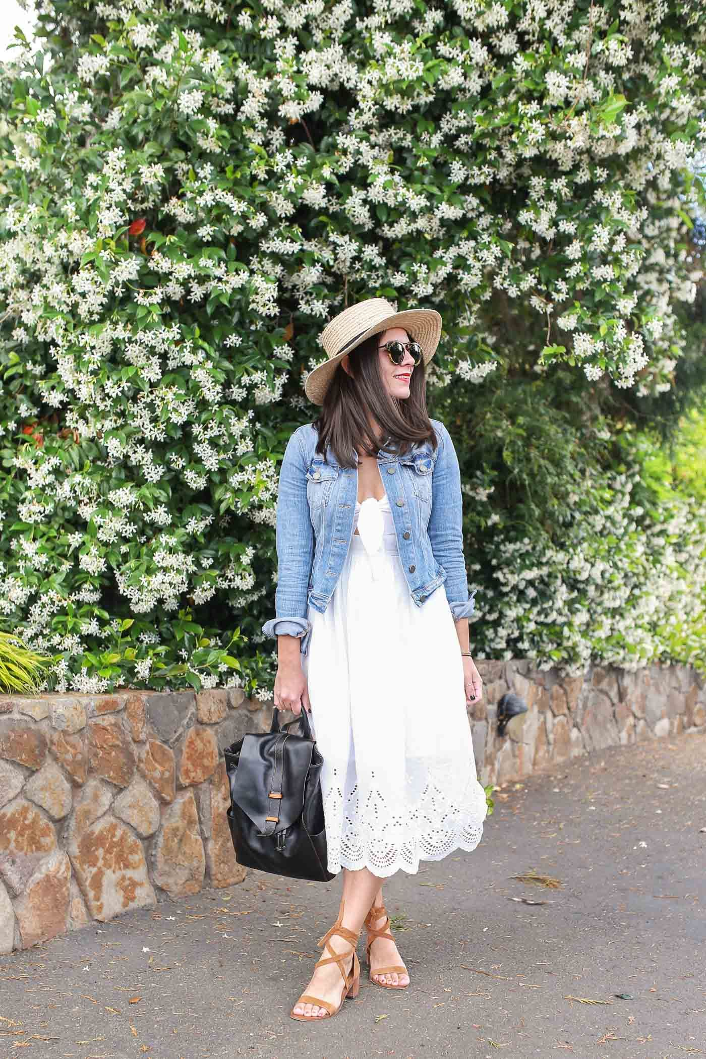 8ab71d8e5123 Heading to wine country  This is what you need to wear - White summer dress    summer hat