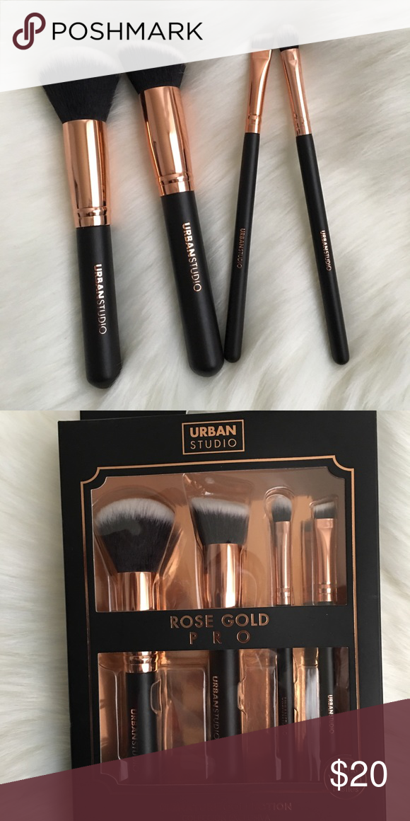 94685ef4ec1c Urban Studio Rose Gold Pro Brush Set This Rose Gold Pro Signature  Collection is curated to