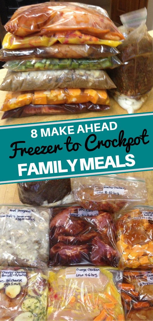 8 Easy Crockpot Freezer Meals