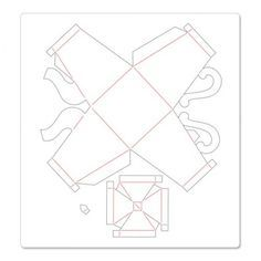 Paper teapot template. Tea party centerpiece, or tea party