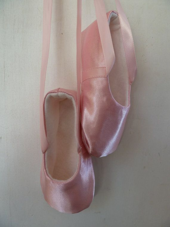 69b30f8b79f42 Infant Ballet Shoes in Pink Satin Handmade Ballet - so cute for ...