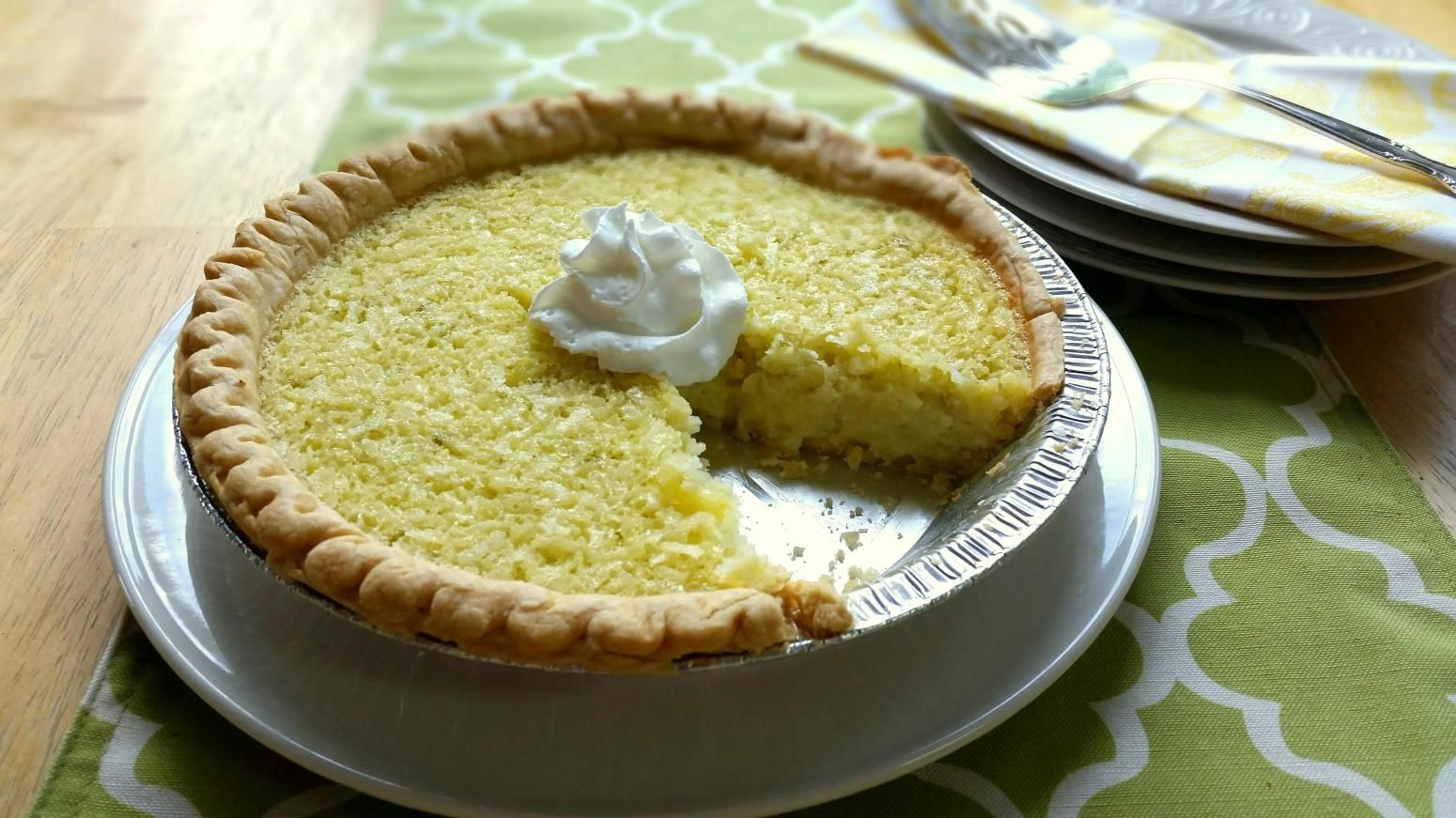 Lime Coconut Buttermilk Pie Recipe Buttermilk Pie Fresh Fruit Pie Recipes Coconut Recipes