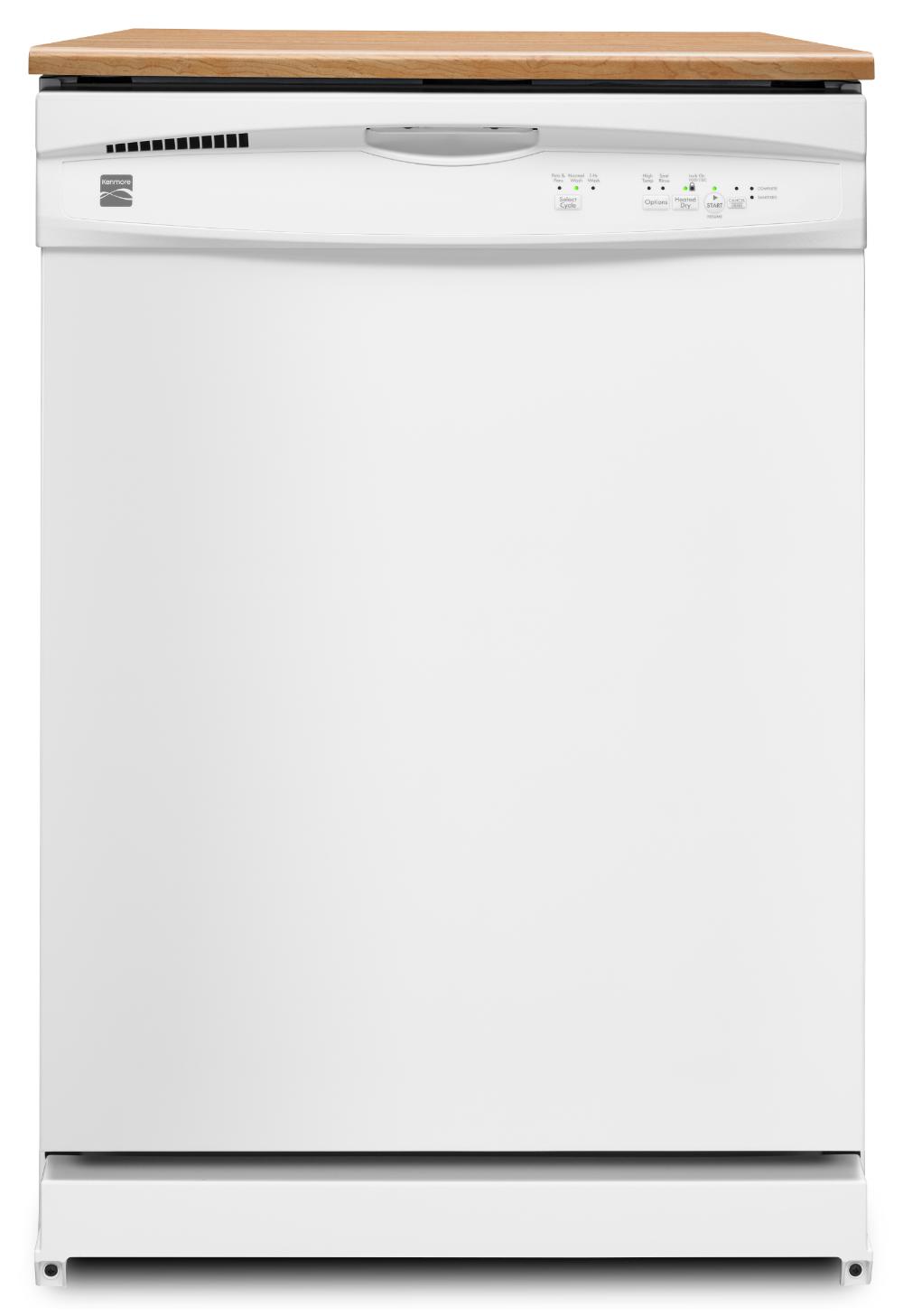 The Kenmore White 24 Portable Dishwasher Makes Makes Chore Free