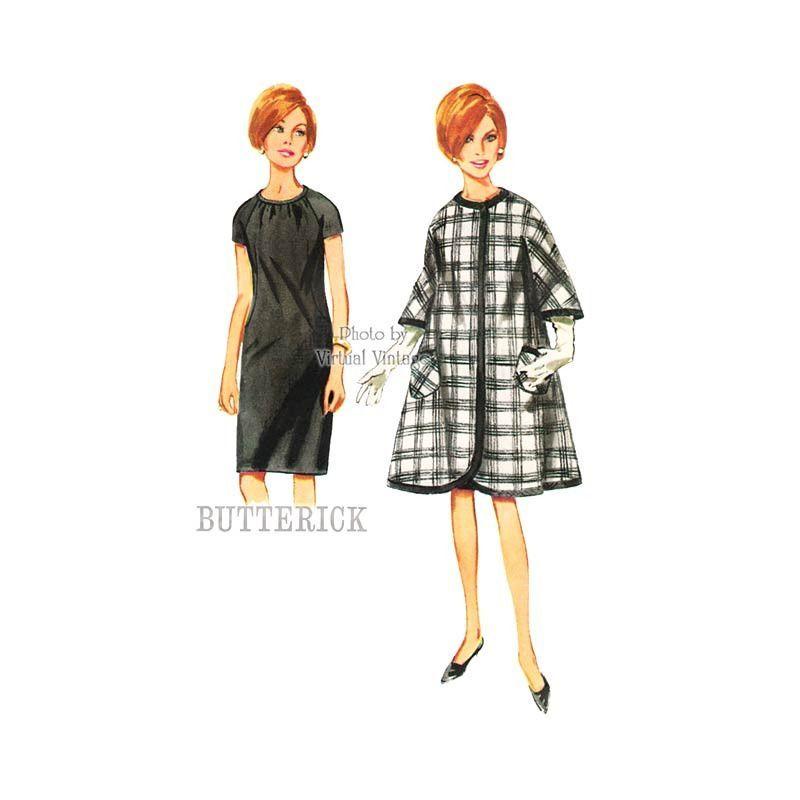 "Sweet 60's Swing Coat And Shift Dress Pattern! ""Full Coat"