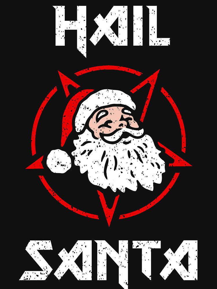 Santa Skull Mens Funny Christmas T-Shirt Xmas Beard Hat Secret Santa Biker Bike
